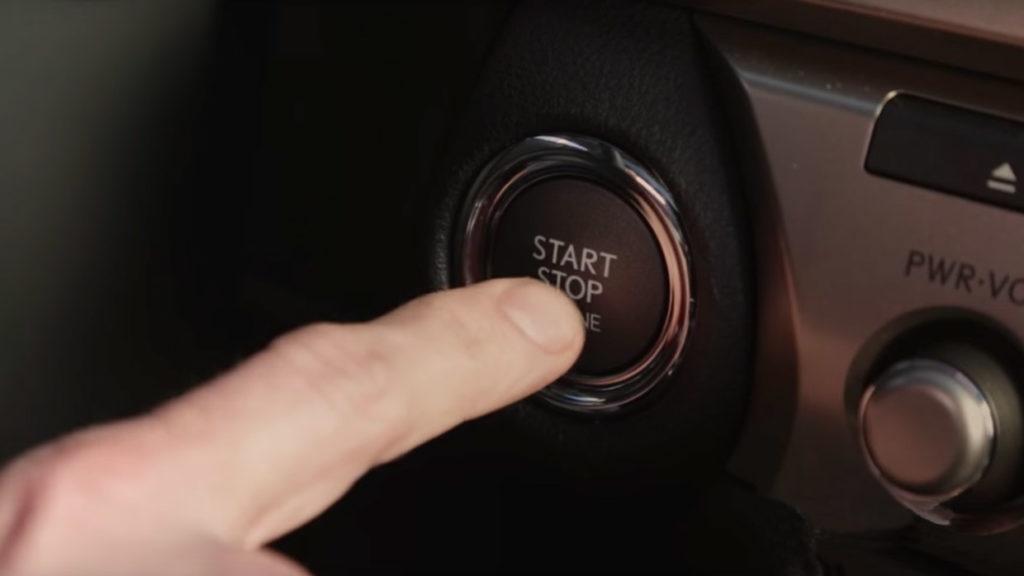 Push starting a car
