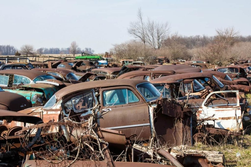 Recycle large volumes of junk cars